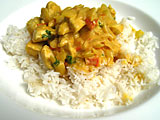 Photo de la recette Poulet au curry et à l'ananas